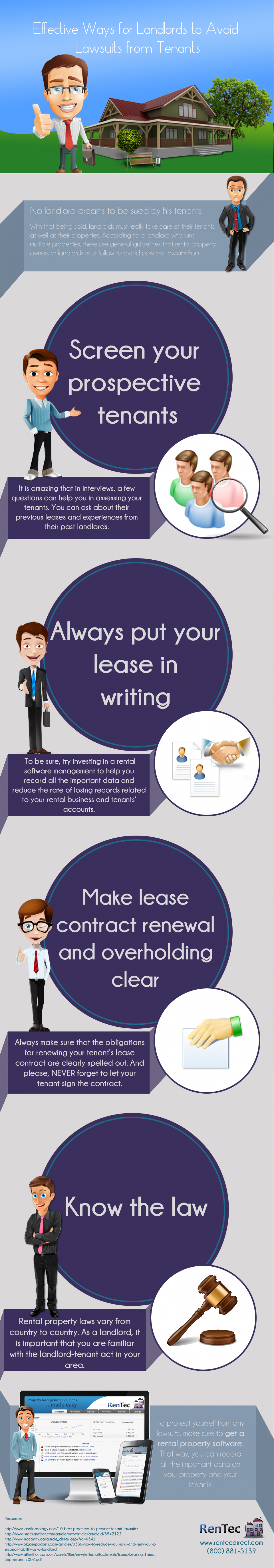 Effective Ways for Landlords to Avoid Lawsuits from Tenants Infographic