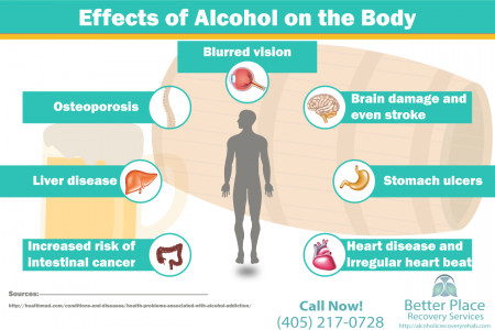 Effects of Alcohol on the Body   Better Place Recovery Services Infographic