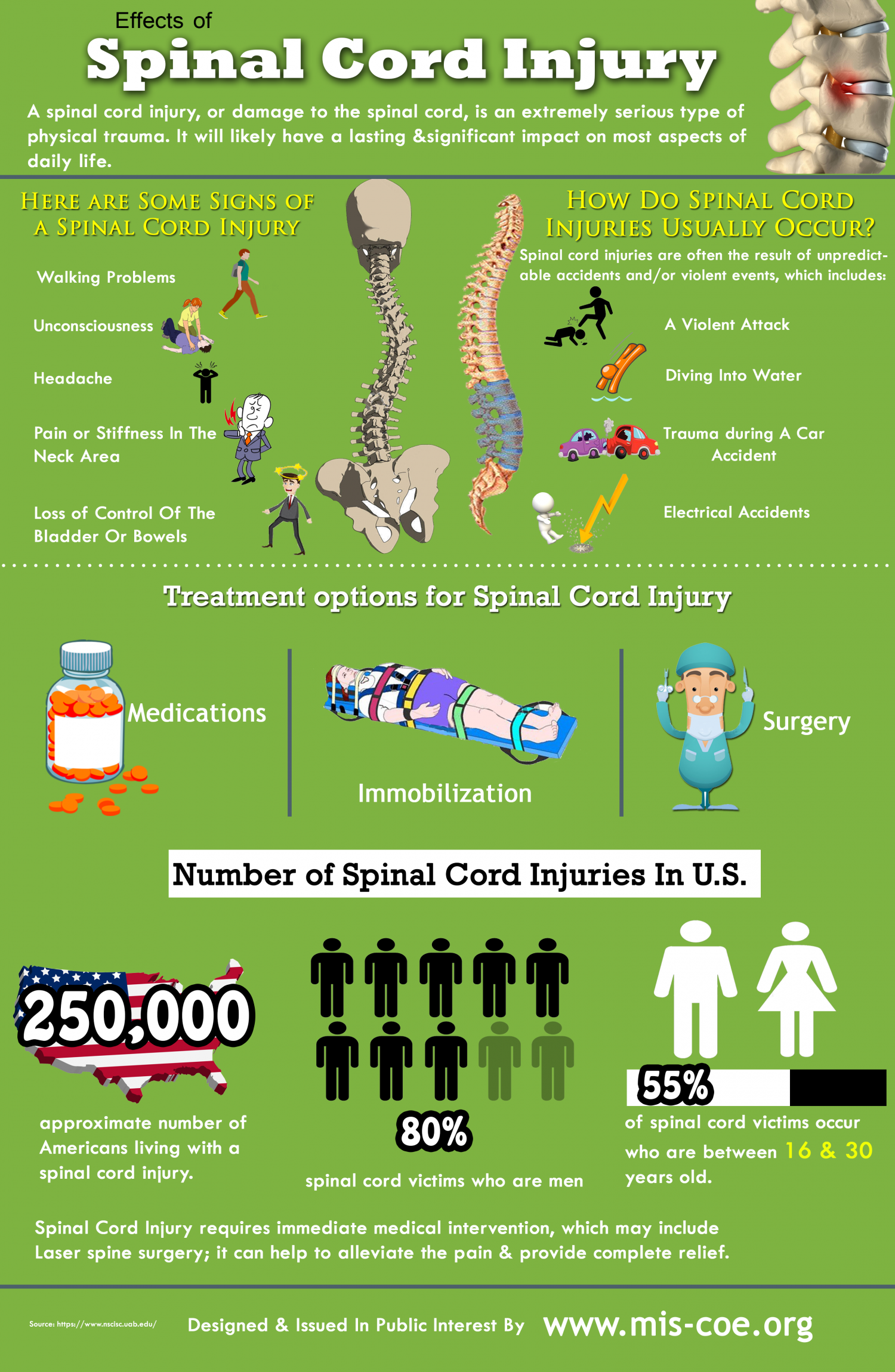 Effects Of Spinal Cord Injury Visual
