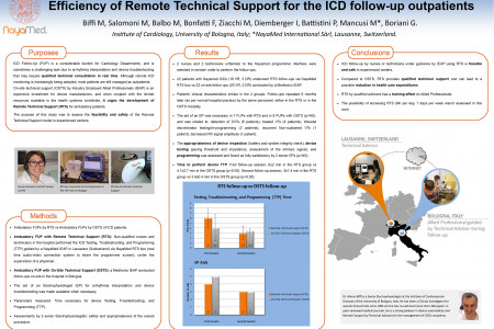 Poster created with the association of Policlinico S. Orsola-Malpighi for the EHRA Europace 2013 Congress  Infographic