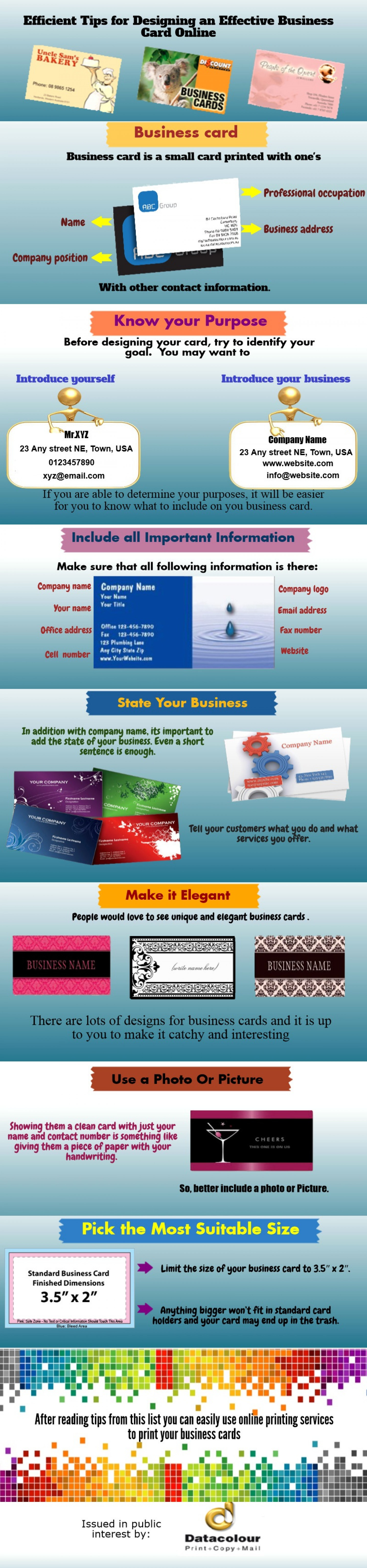 Efficient Tips for Designing an Effective Business Card Online Infographic