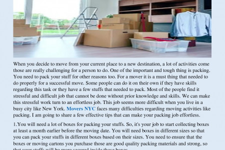 Effortless Packing Tips for Movers Infographic