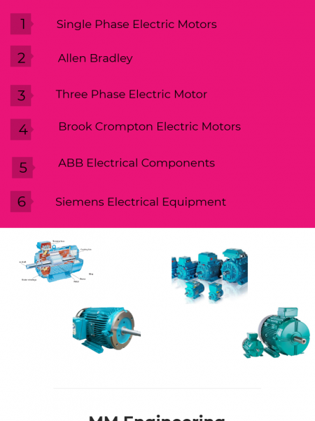 Electric Motor Manufacturers UK Infographic