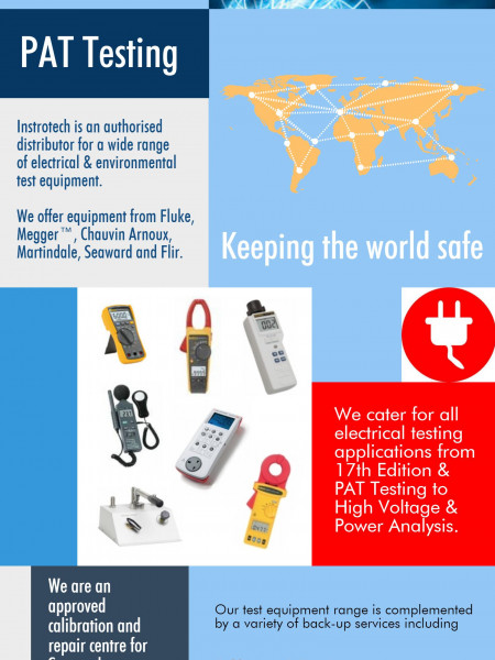 Electrical & Environmental Test Equipment by Instrotech Infographic