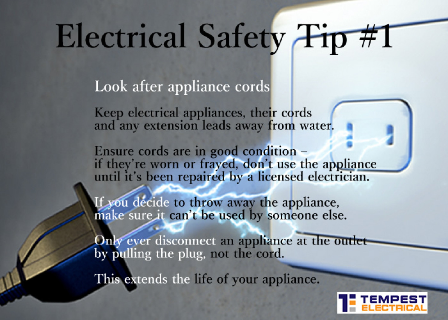 Electrical Safety Tips : Electrical safety tips in the home visual ly