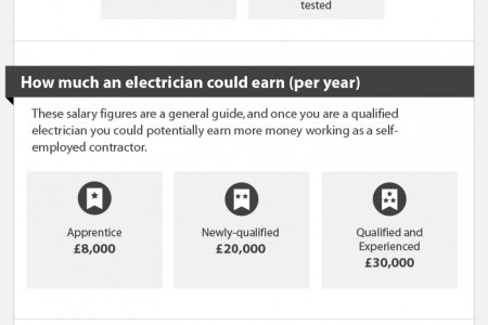 Electrician Career Profile Infographic
