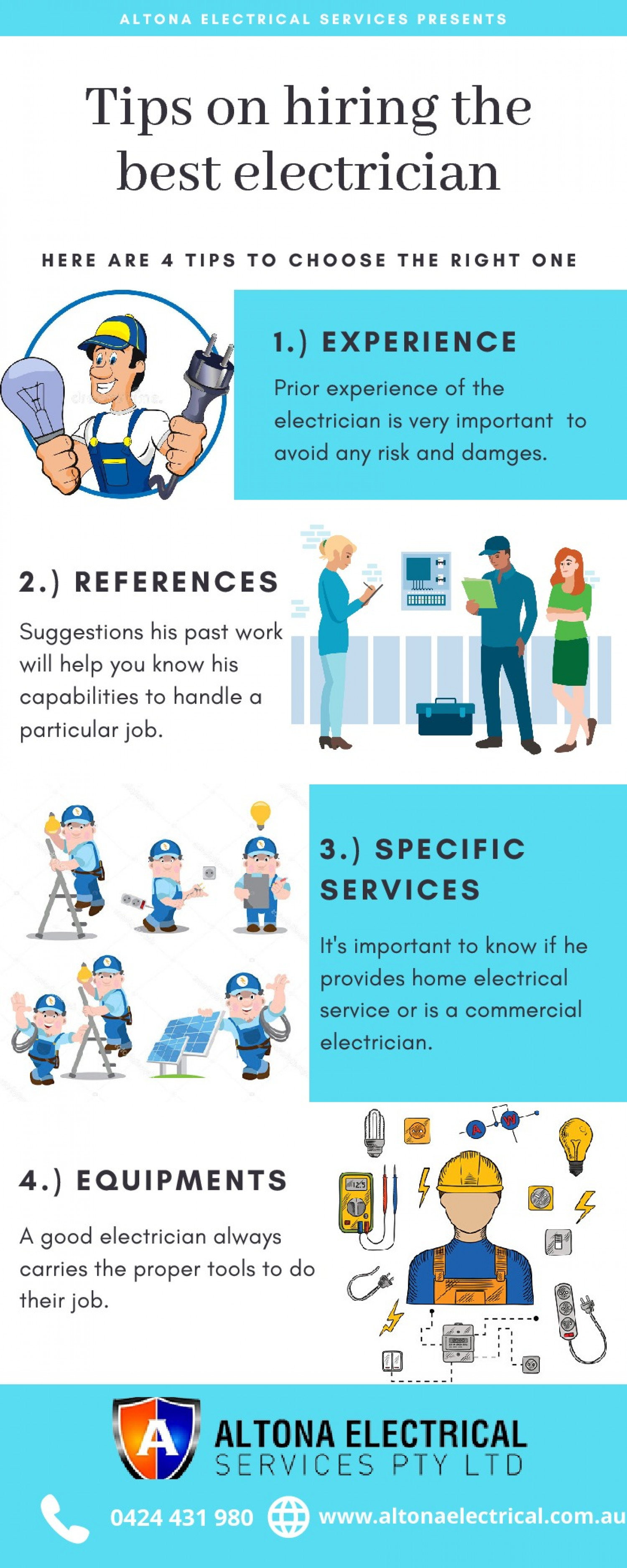 Electrician Services in Western Suburbs Infographic