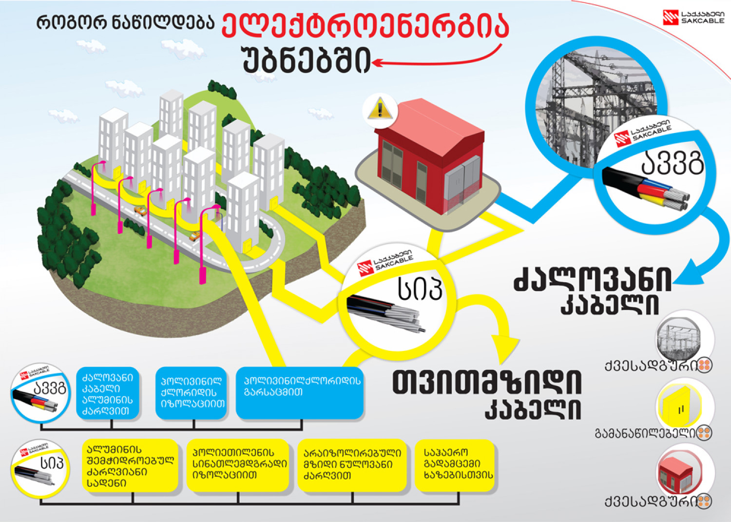 Electricity distribution in districts Infographic