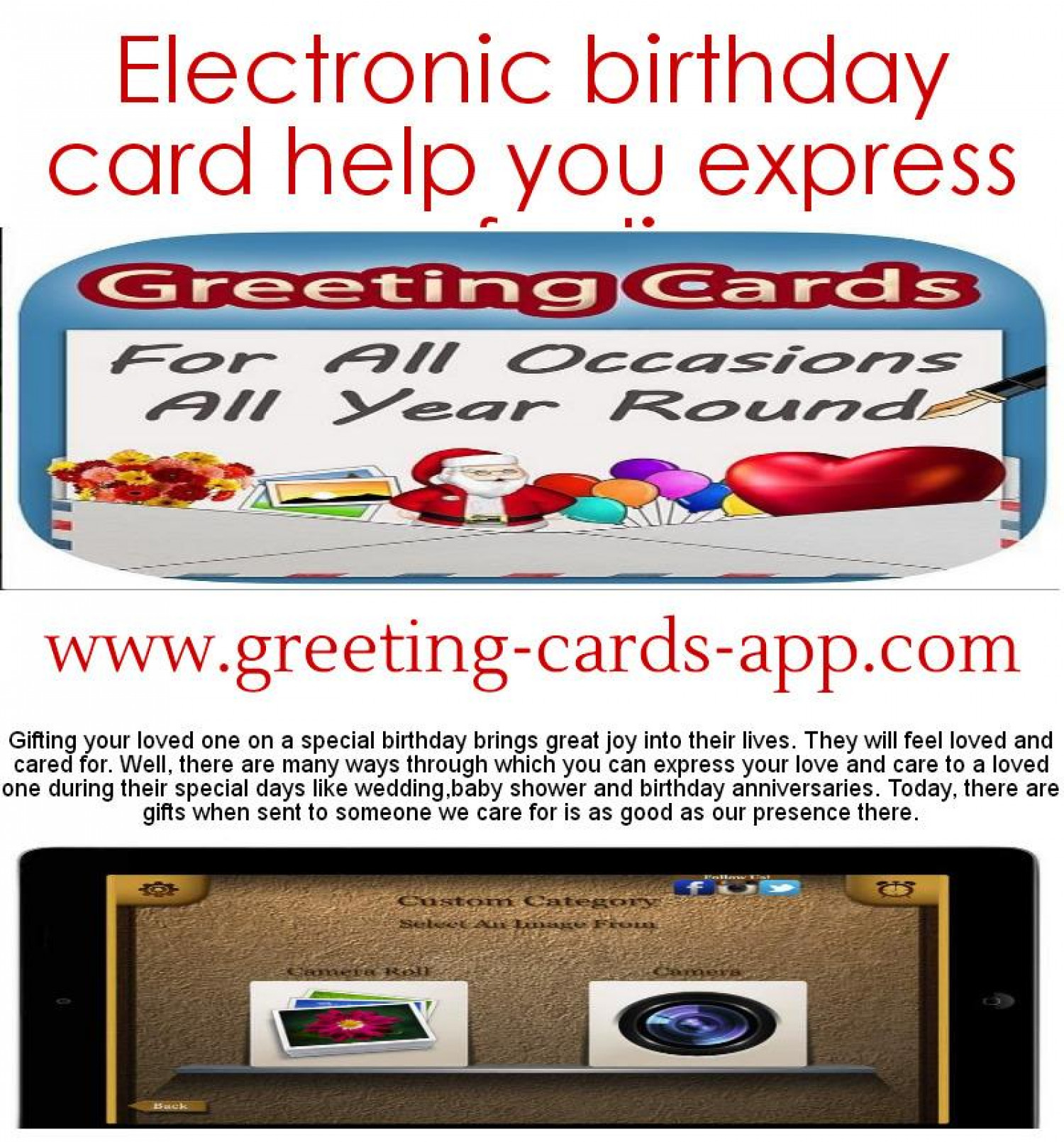 Electronic Birthday Card Help You Express Your Feelings Infographic