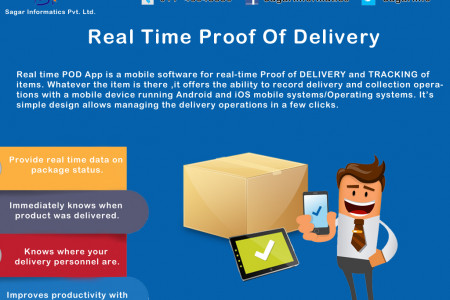 Electronic Proof of Delivery App Infographic