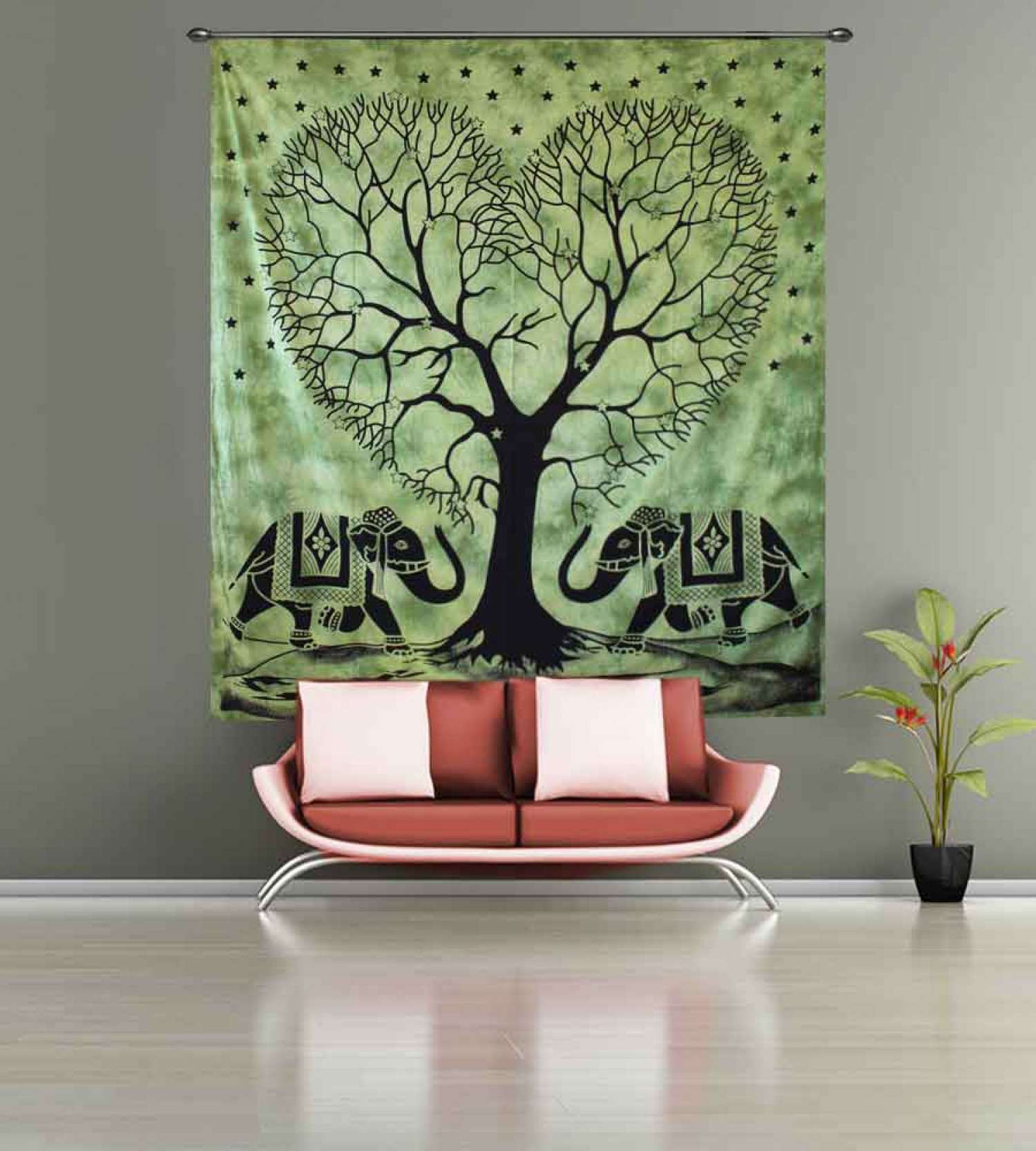 Elephant Print Tree of life Tapestry from Handicrunch Infographic