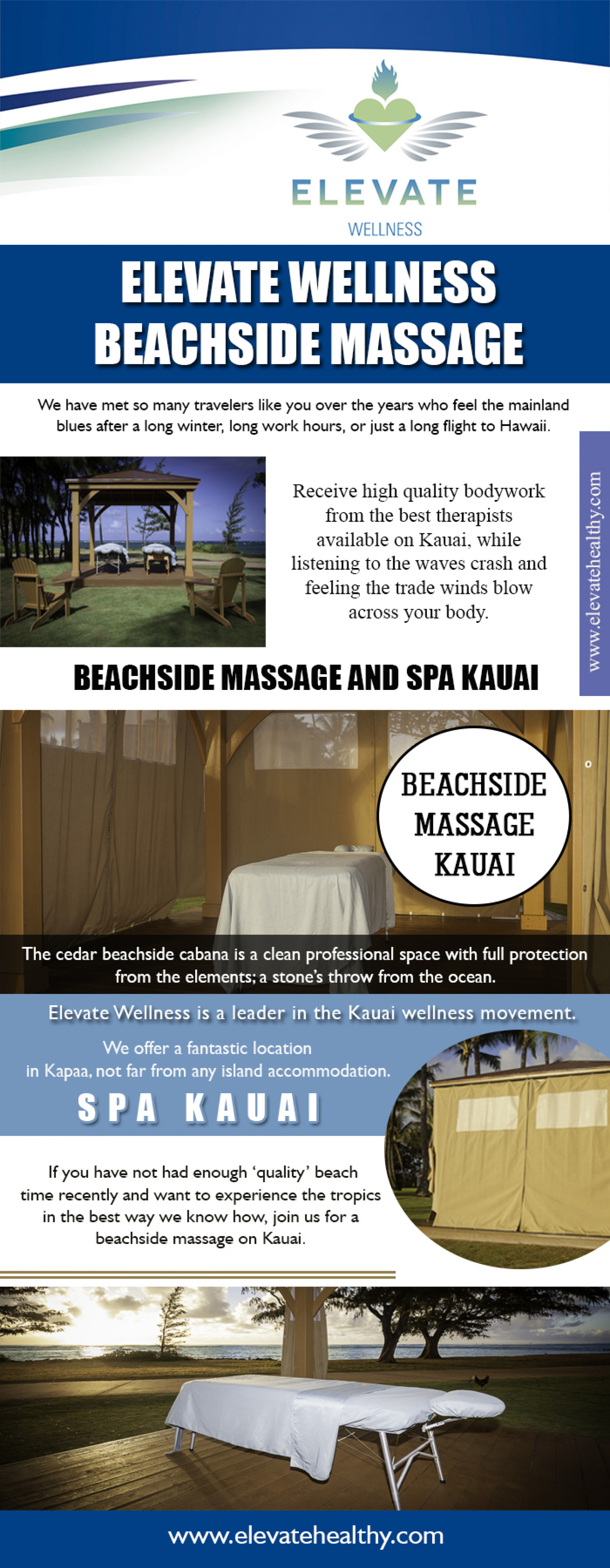 Elevate Wellness Beachside Massage Infographic