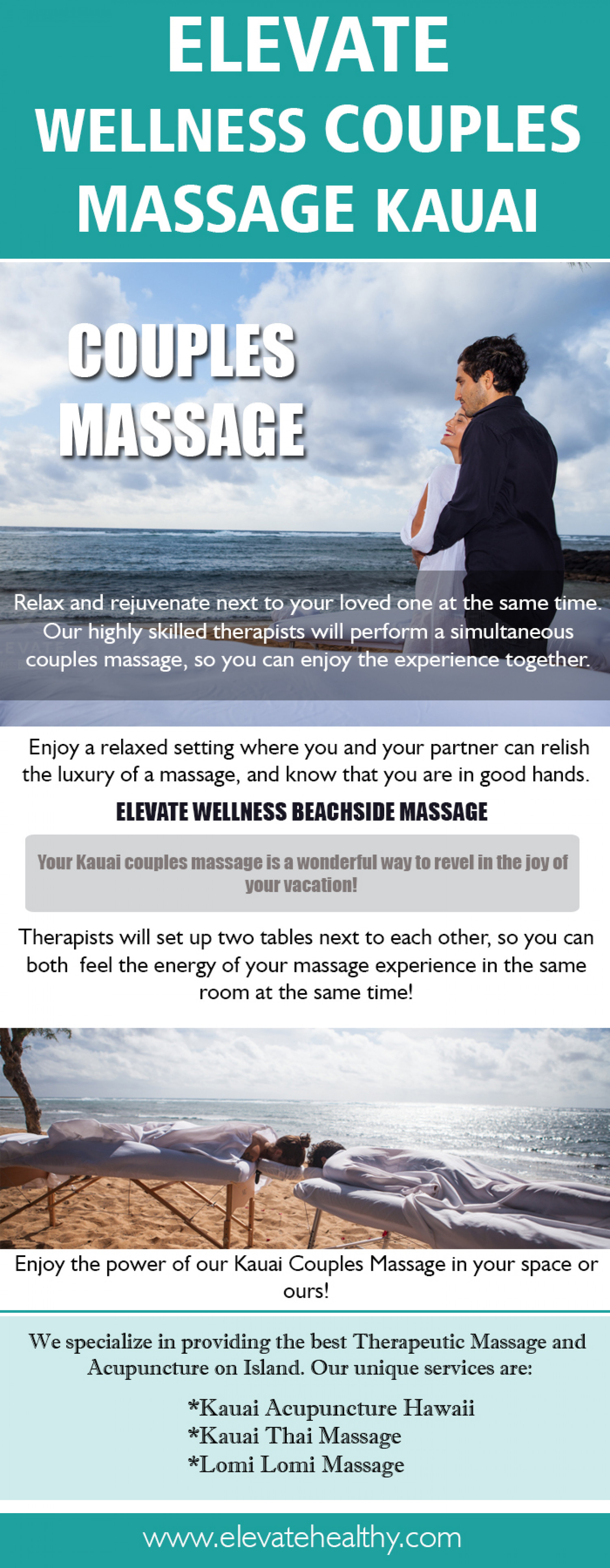Elevate Wellness Kauai Massage Infographic