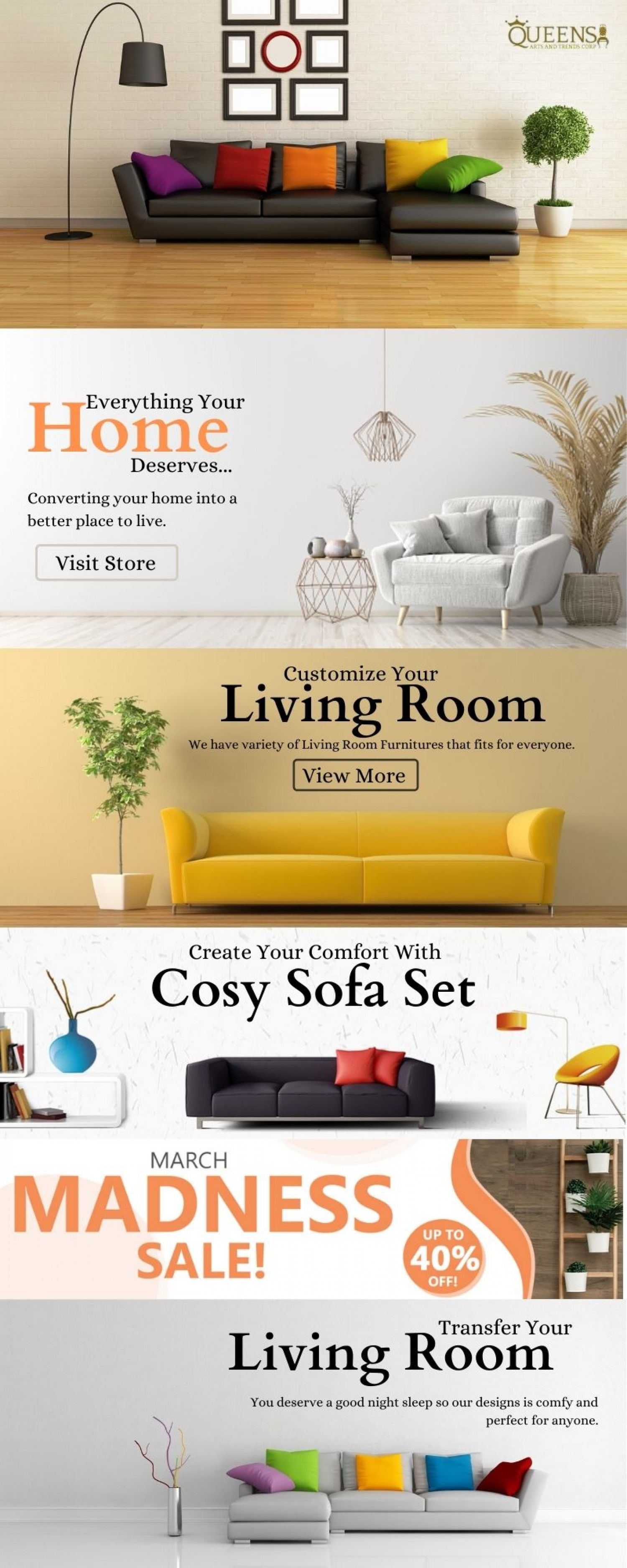 Elevate Your Living Room Infographic