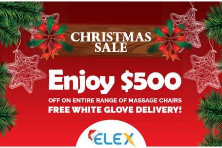 Elex full body massage chair Christmas sale Infographic