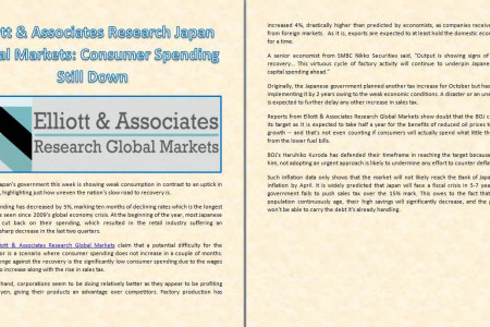 Elliott & Associates Research Japan Global Markets: Consumer Spending Still Down Infographic