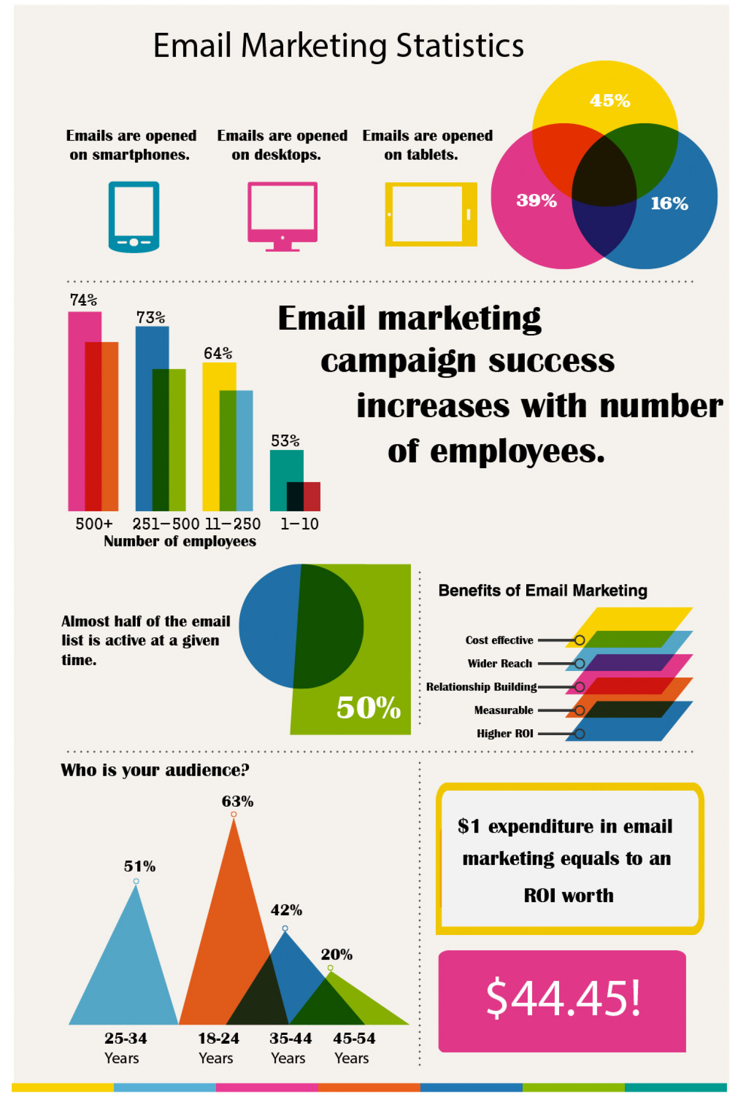 Email Marketing Statistics Infographic