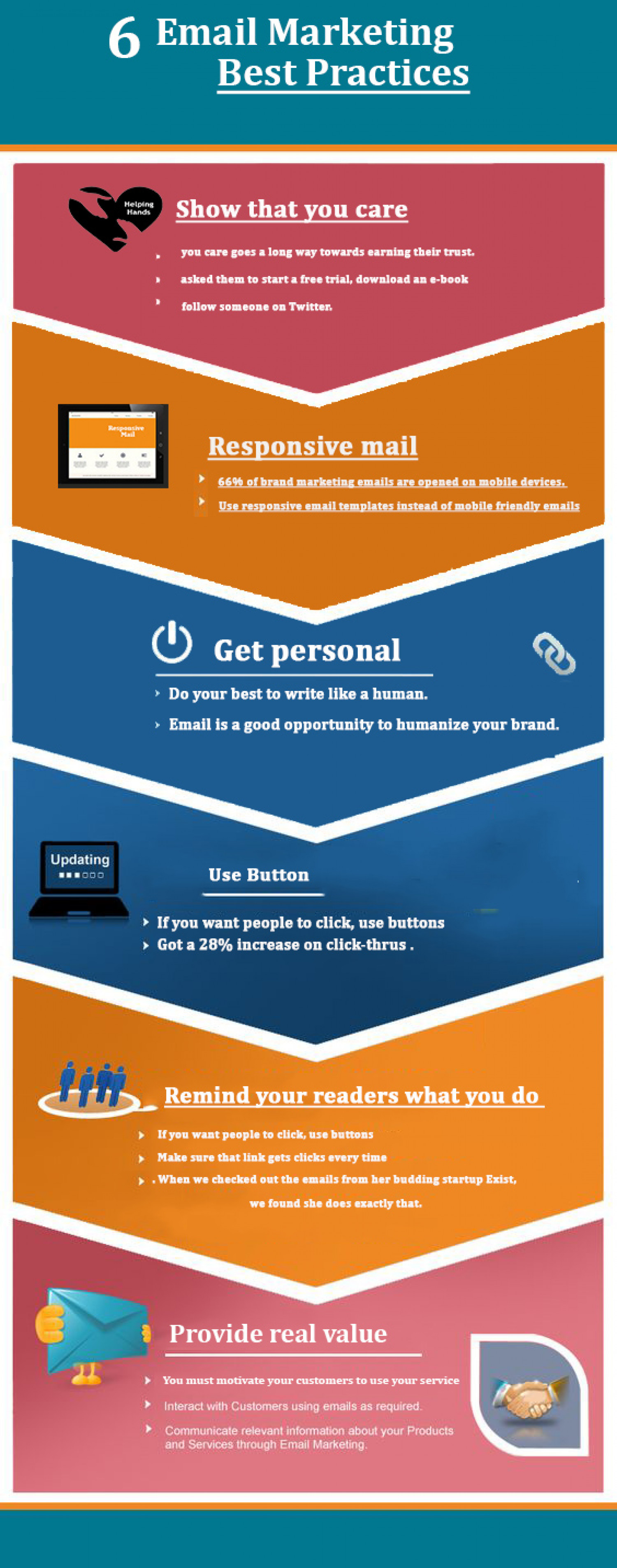 6 Email Marketing Practices Infographic