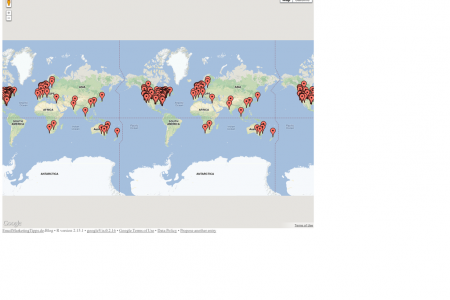 Email Service Provider Worldmap Infographic