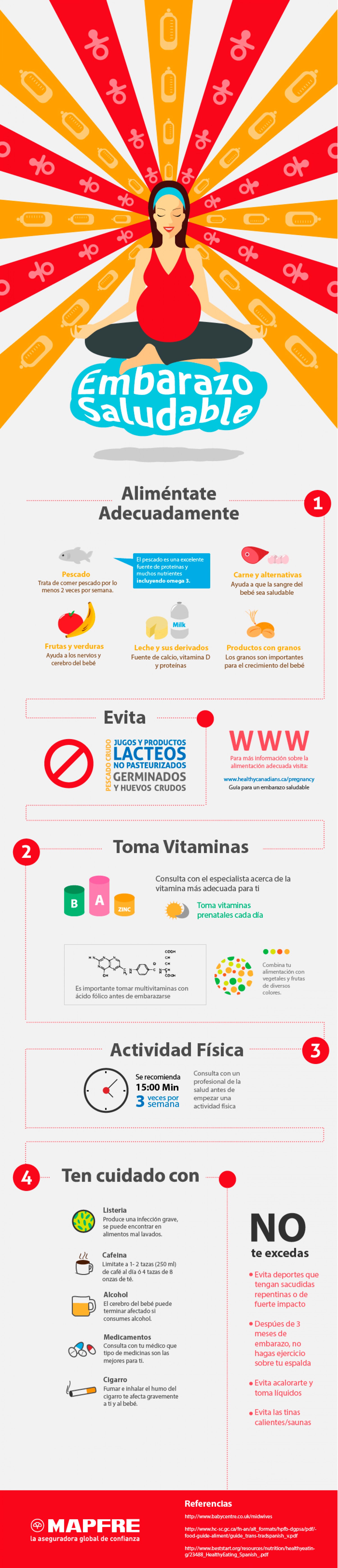 Embarazo Saludable Infographic