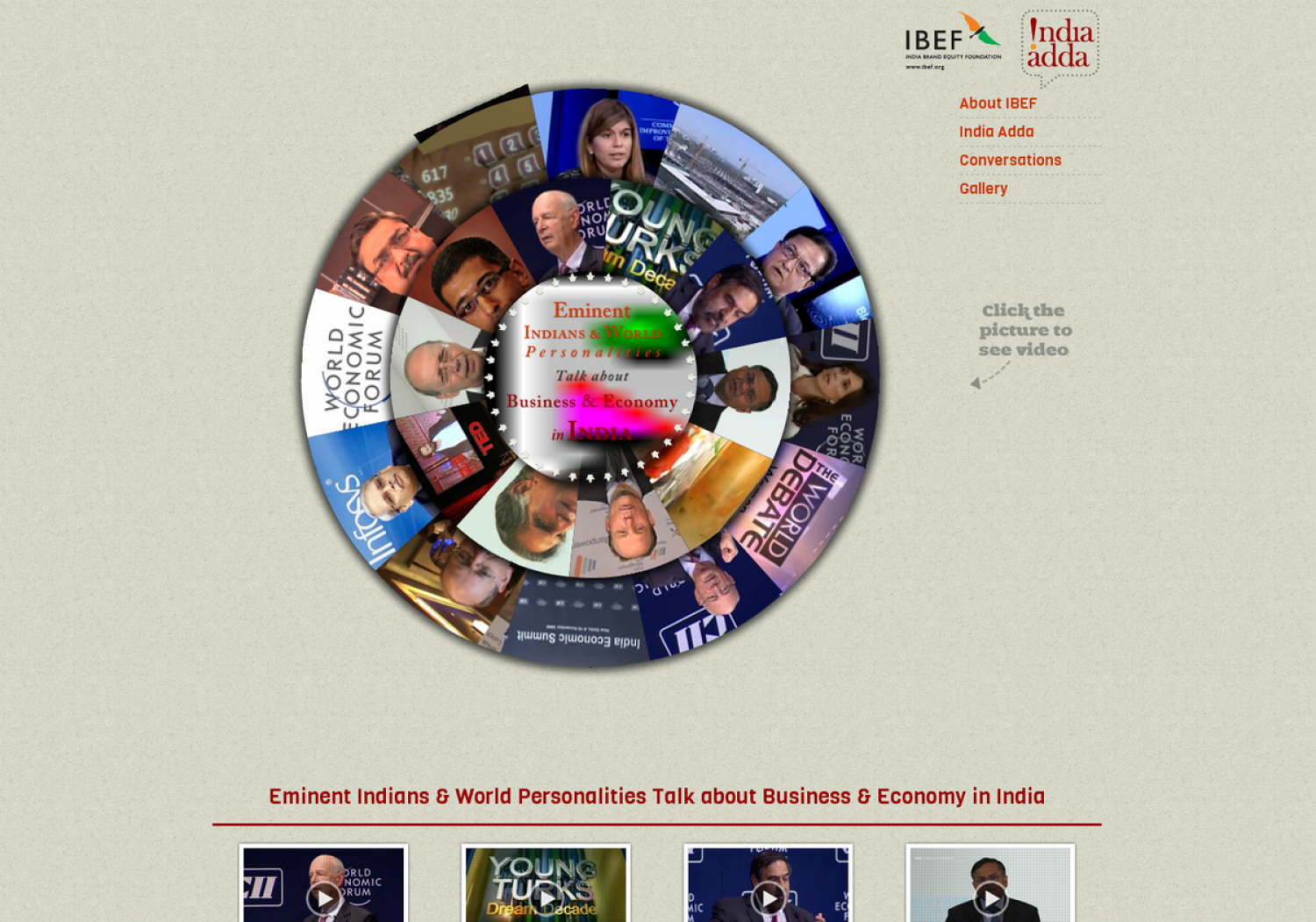 Eminent Indians & World Personalities Talk about Business & Economy in India Infographic