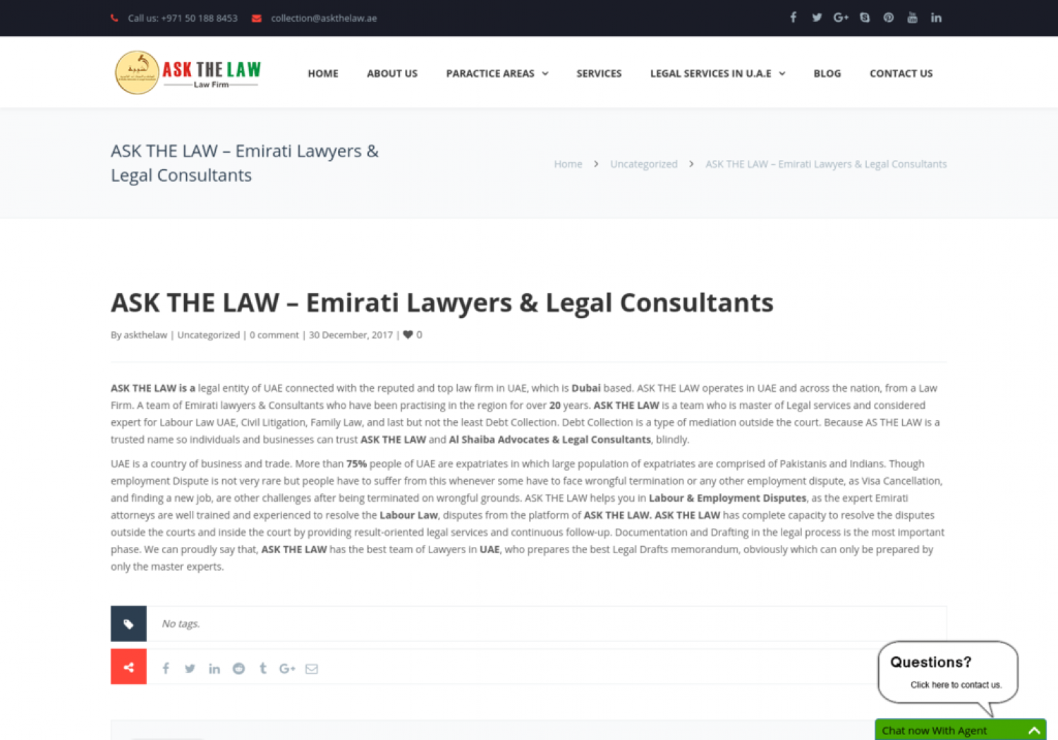 Emirati Lawyers & Legal Consultants Infographic