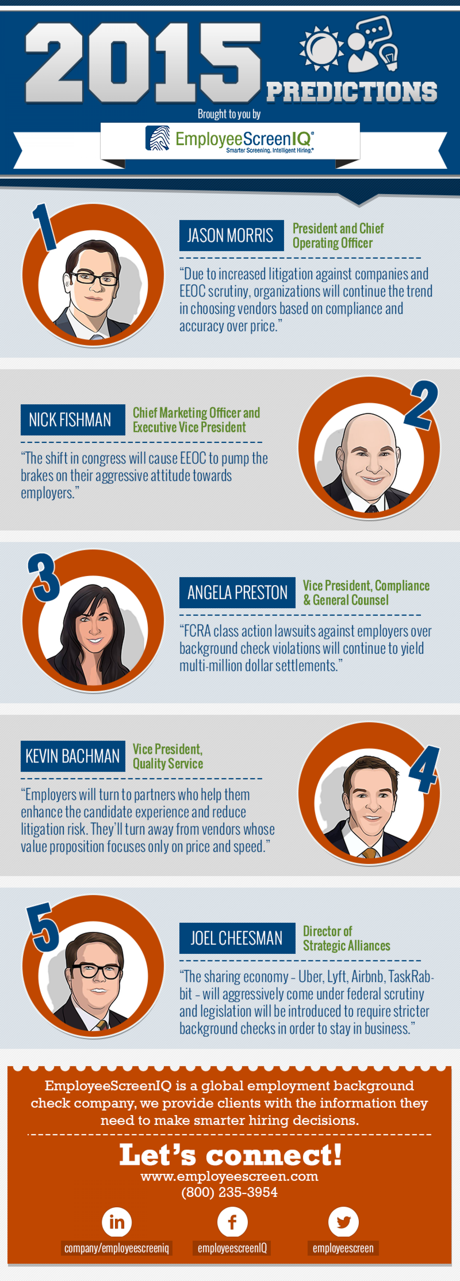 Employee Background Checks - 2015 Predictions Infographic