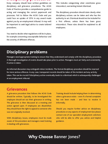 why disciplinary procedure is important