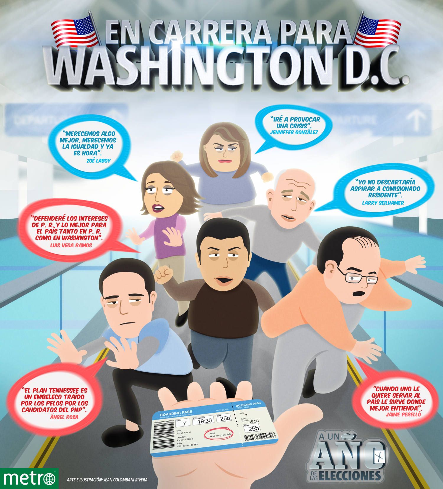 En Carrera para Washington D.C. Infographic