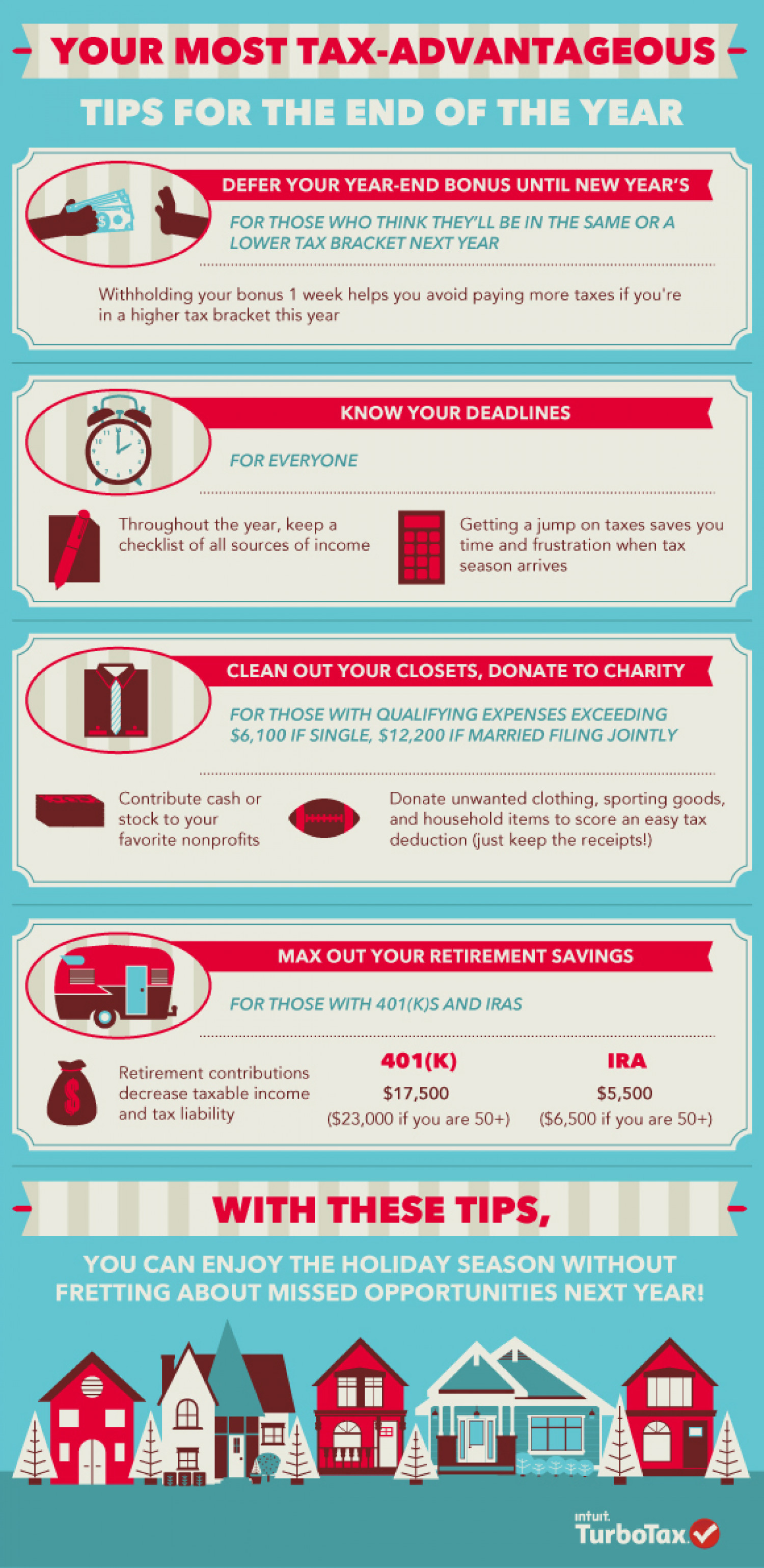 End Of Year Tax Tips  Infographic