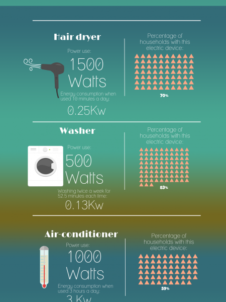 Energy Consumption in Your Home 2015 Infographic