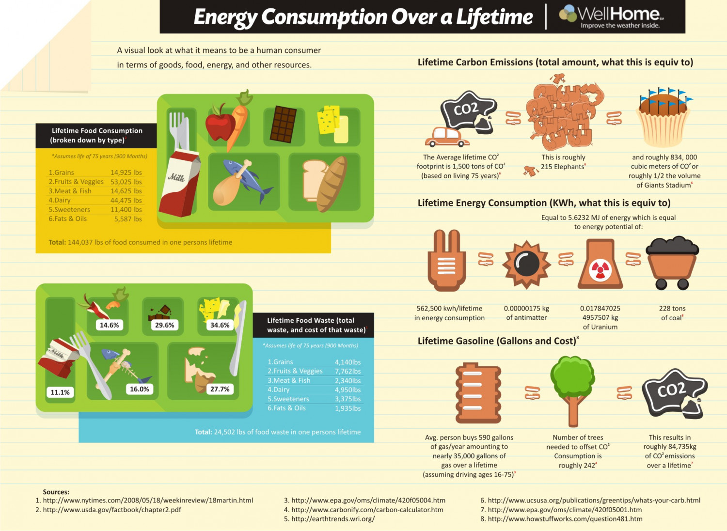 Energy Consumption Over A Lifetime Visual Ly