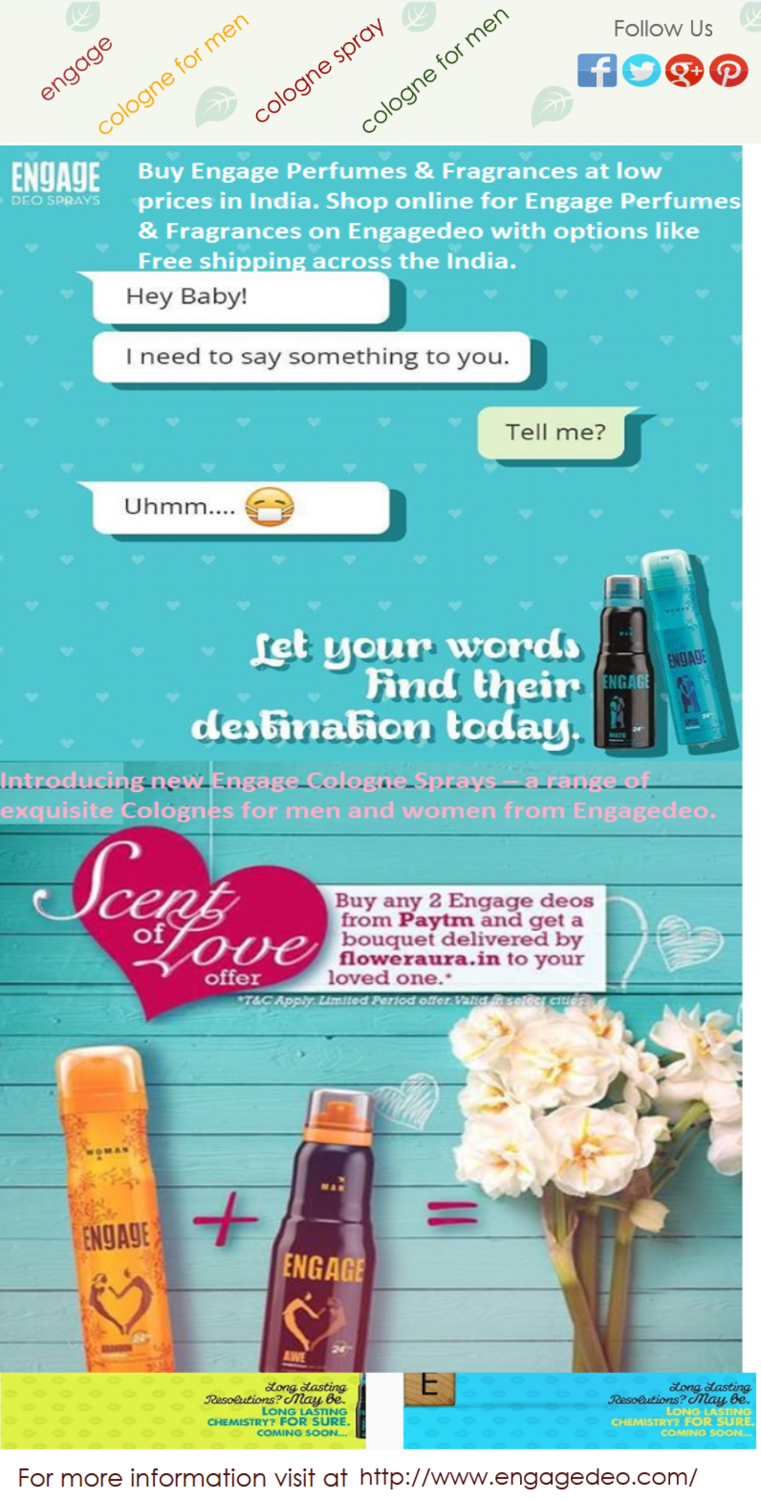 Engage Deo - Engage Perfumes & Fragrances Infographic