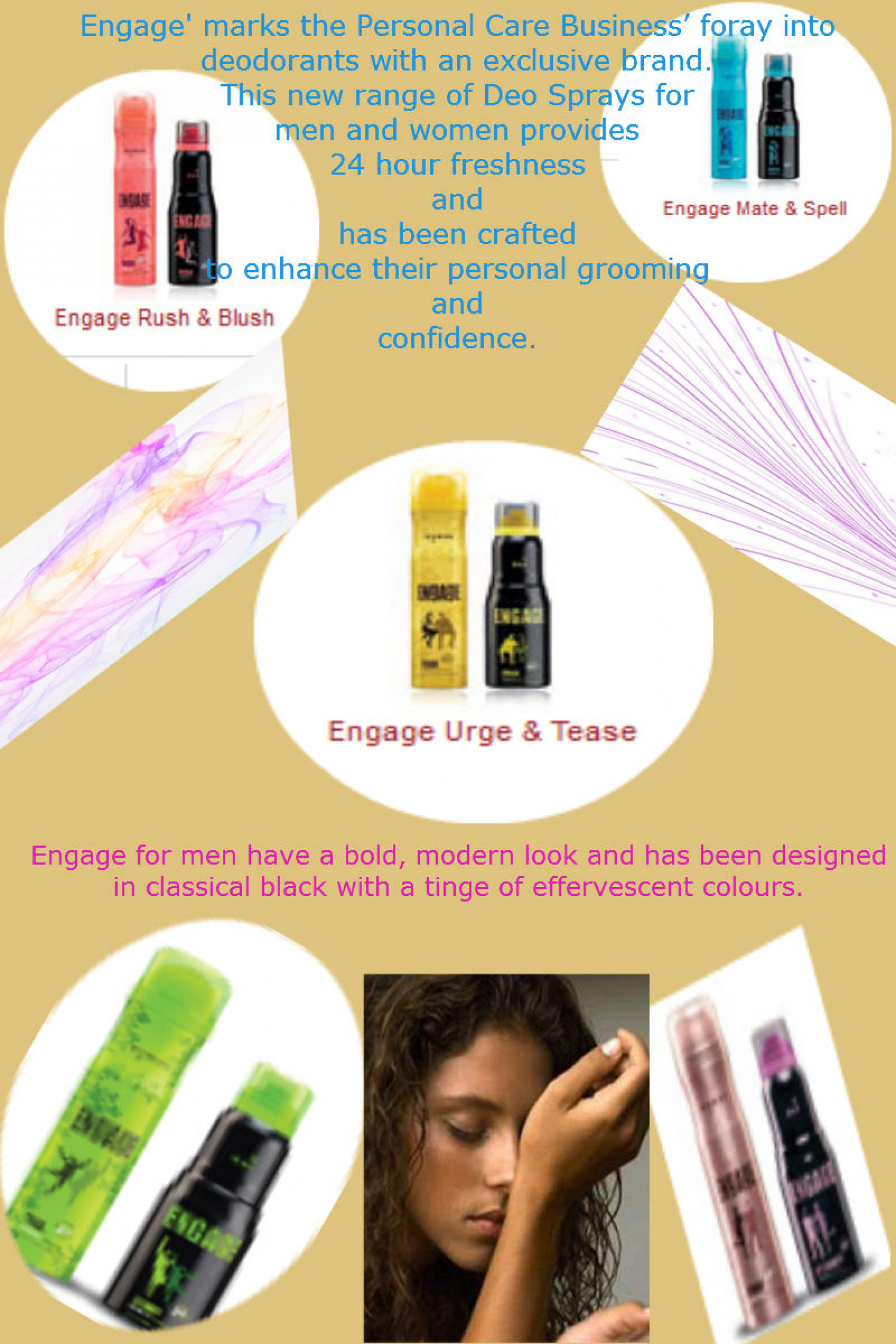 Engage Deodorants For Men In India Infographic