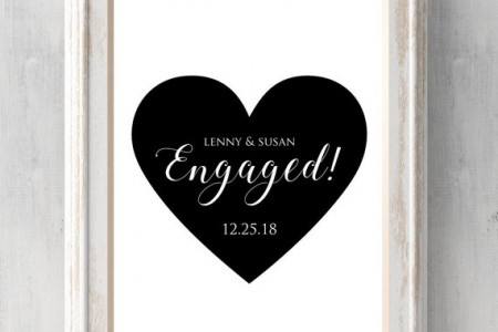 Engagement Print. Can personalize text and colors. Heart design. Engagement Gift. All Prints BUY 2 GET 1 FREE! Infographic
