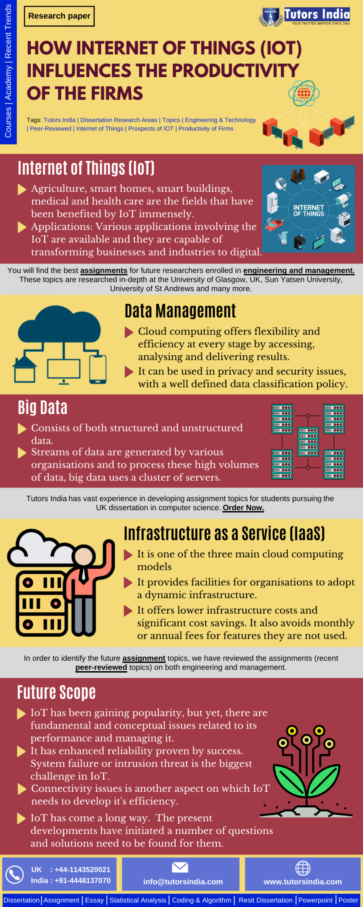 Engineering Dissertation Writing Services and Help in UK- How Internet of Things (Iot) Influences the Productivity of The Firms Infographic