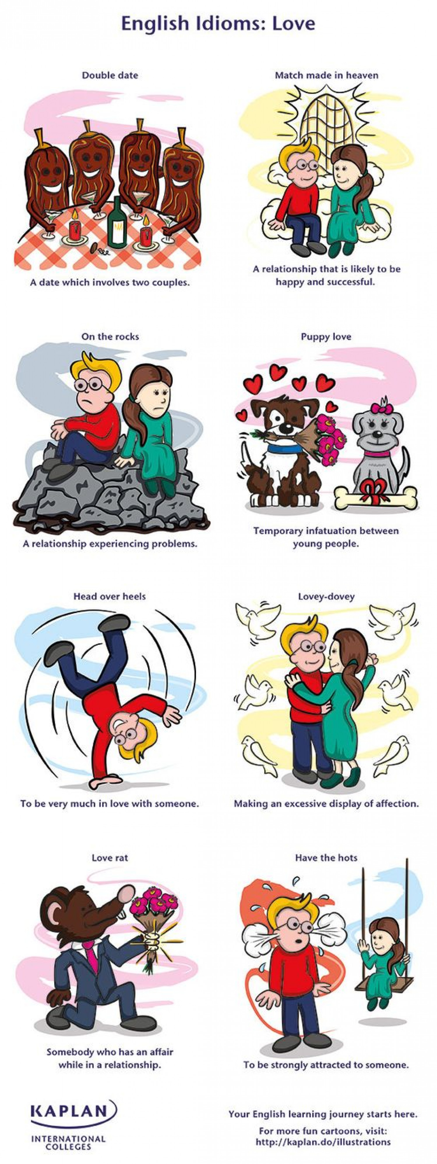 English idioms: love Infographic