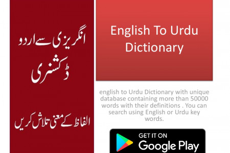 English to urdu Dictionary Infographic