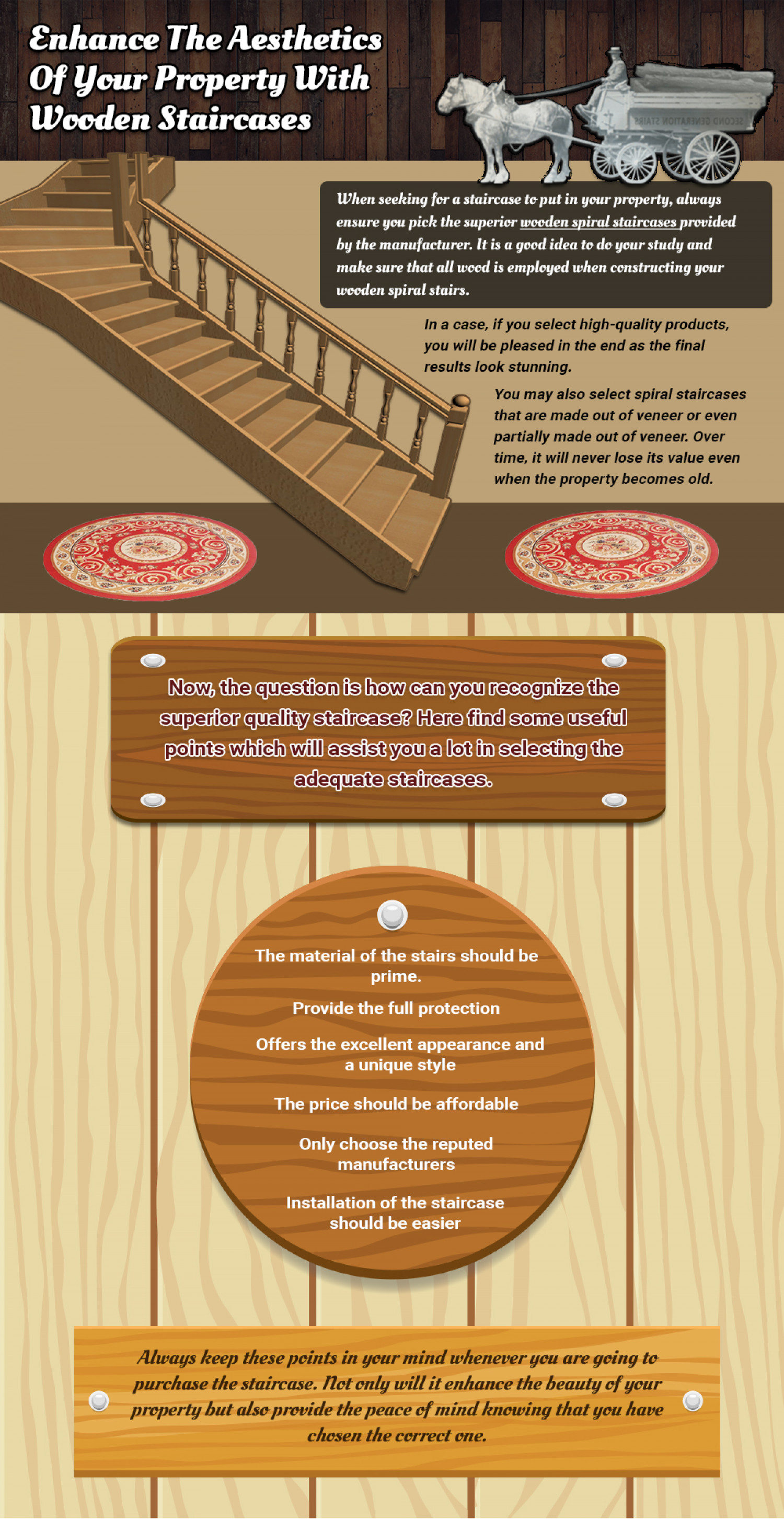 Enhance The Aesthetics Of Your Property With Wooden Staircases Infographic
