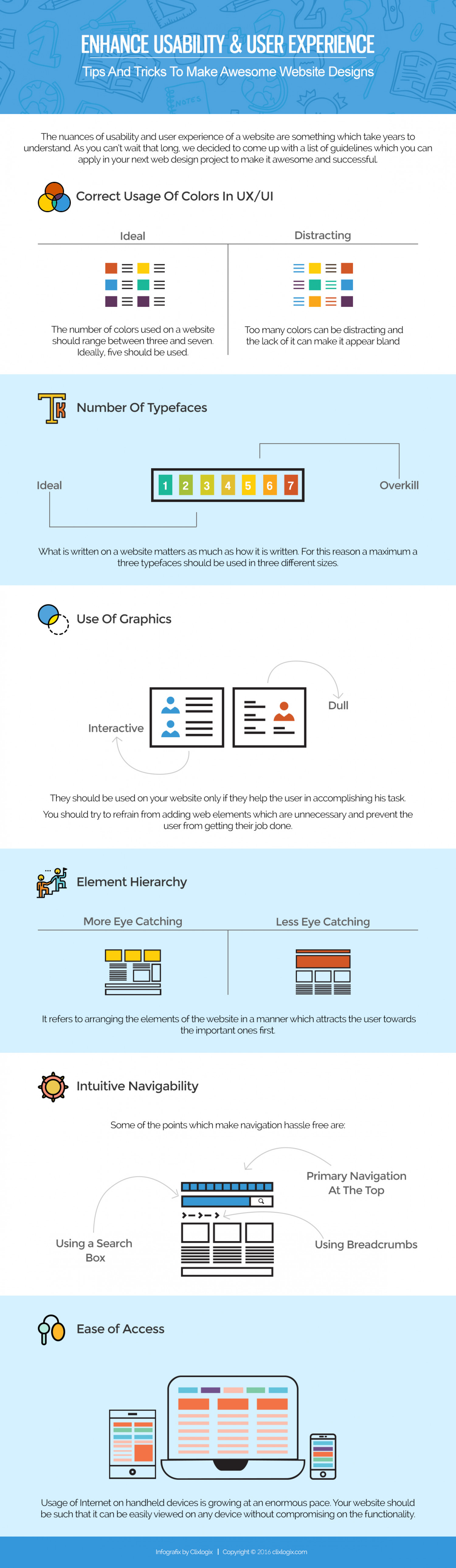Enhance Usability and User Experience: Tips & Tricks to Make Awesome Web Designs Infographic