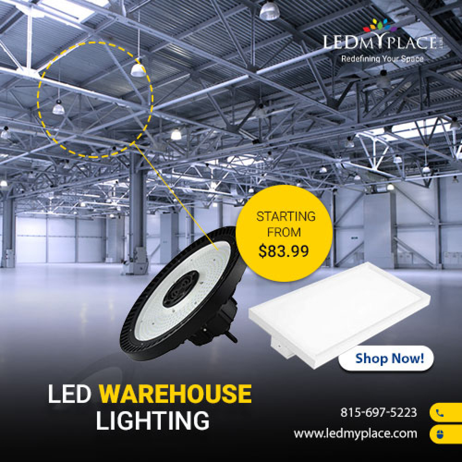 Enhance Your Commercial Lighting With LED Warehouse Lighting Infographic