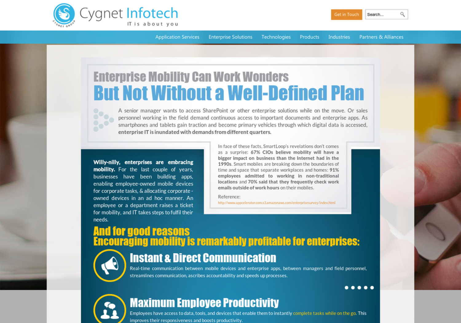 Enterprise Mobility Strategy can work wonders but not without a well-defined plan Infographic