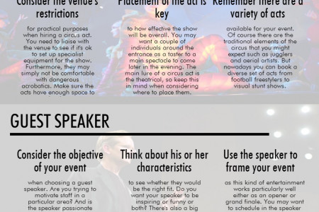 Entertainment Tips for Events Infographic