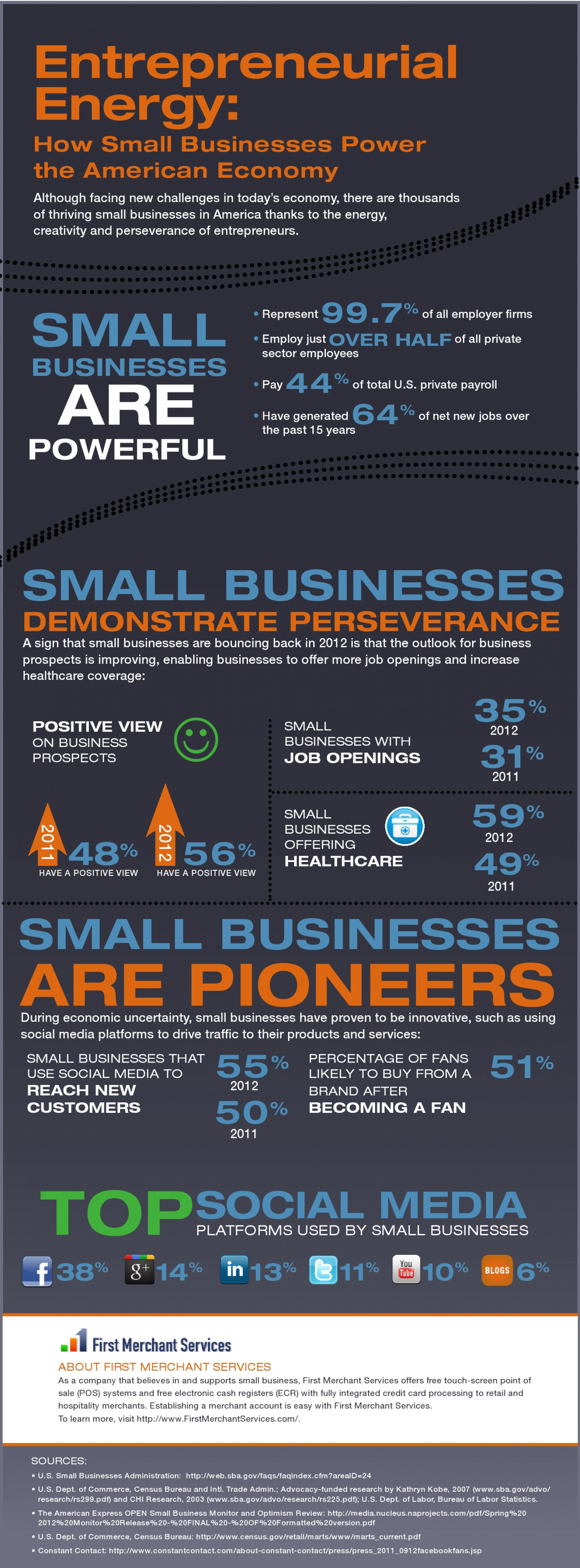 Entrepreneurial Energy - How Small Businesses Power the American Economy Infographic