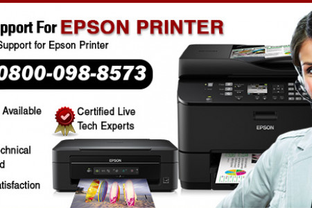 EPSON PRINTER HELPLINE NUMBER UK 0800-098-8573 Infographic
