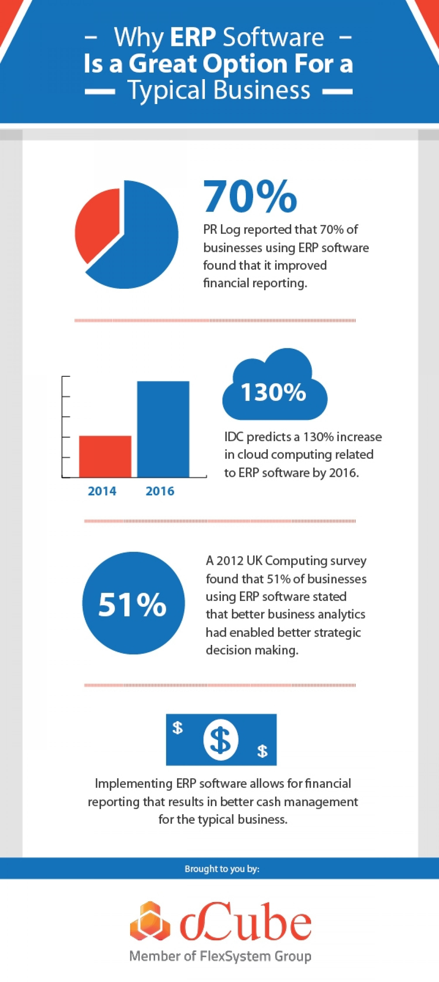 Why ERP Software is a Great Option for a Typical Business Infographic
