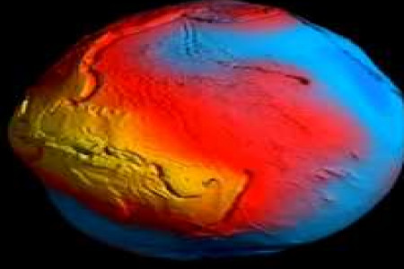 ESA GOCE Earth Gravity Map Infographic