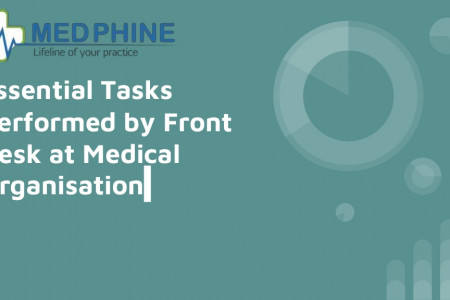 Essential tasks performed by front desk at medical organisation Infographic