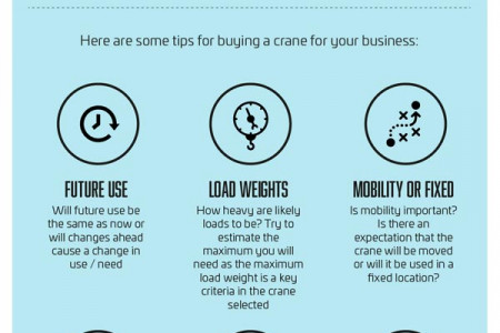 """Essential tips for working with cranes"" infographic Infographic"